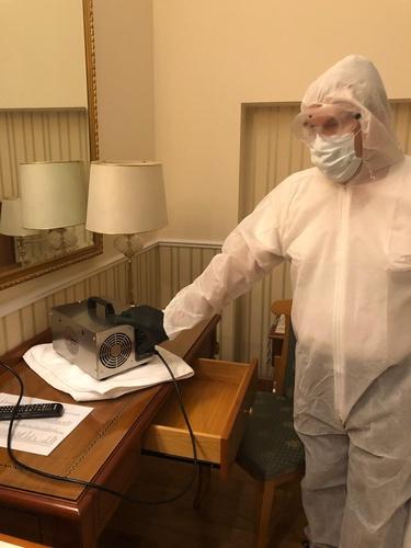 Sanificazione ozono camere hotel marconi milano
